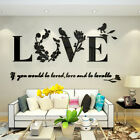 Love Mirror Quote Removable 3d Wall Sticker Decal Living Room Home Decor F4o6h