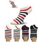 KIKIYA Women Ankle Socks Short Fashion Sneakers Low Cut Lot Stripe Cotton Crew