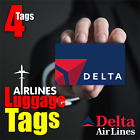 DELTA AIRLINE Luggage Tags ( 4pcs )