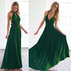 Womens Evening Dress Convertible Multi Way Wrap Bridesmaid Formal Maxi Gown