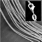 16-24 Inch Jewellery 925 Sterling Silver Plated Rolo Chain Necklace