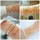 Внешний вид - Women 4pcs Bangle Set Fashion Crystal Rhinestone Braclet Gold/Silver Jewelry New