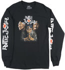 TUPAC SHAKUR MANY FACES POETIC JUSTICE LONG SLEEVE SHIRT MENS 2PAC TOP image