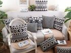 Black Pattern Cushion Cover Interior Durable Household Comfortable Home_EC