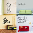Bedroom Kitchen Quote Wall Sticker Art Vinyl Decal Removable Motor Skirt Decor