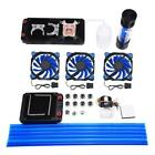 DIY PC Water Cooling Kit Heatsink Radiator Pump Reservoir CPU Block Tube LED Fan