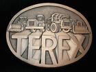 RC07121 *NOS* VINTAGE 1970s **TEREX** CONSTRUCTION HEAVY MACHINERY BELT BUCKLE