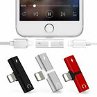2In1 Adapter Aux Splitter Audio Headphone Charge Cable Dual For IPhone 7/7Plus