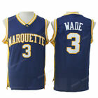 Throwback Dwyane Wade #3 Marquette Jerseys All Stitched Heat Retired Jerseys