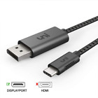 USB C to DisplayPort Cable (4K@60Hz), uni Thunderbolt 3 to Compatible for MacBoo