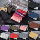 Men's Leather Bifold Wallet Coin Purse ID Credit Card Holder Short Money Clip image