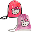 Sanrio Hello Kitty Backpack Sport Sack Pack Girls Sling Bag Tote Metallic Pink image