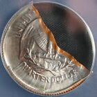 Quarter Washington RARE Mint Error Struck on a PIECE OF SCRAP METAL!  Weird!!