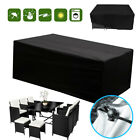 Waterproof Garden Rattan Sofa Furniture Set Rain Cover For 2-10 Seater Outdoors