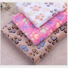VERY SOFT CAGE LINER PET ANIMAL CAT DOG PAW PRINT WARM BLANKET - MORE SIZES