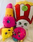 Shopkins Plush Lot Of 4 - Popcorn Donut Pacifier Lipstick