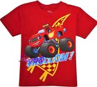 BLAZE  MONSTER MACHINES Red Tee T-Shirt NEW Toddler's Size 2T, 3T or 4T 16