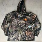 Mossy Oak Tech Pullover Hoodie w/ Built in Face Gaiter Size 3XL