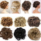 US Seller Curly Messy Hair Piece Scrunchie Real Human Look Hair Extensions Bun