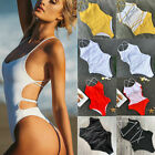 Sexy Women's One-piece Monokini Bikini Padded Swimsuit V Thong Bathing Swimwear $12.08 USD on eBay