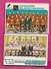 1975-76 OPC HAWKS TEAM CHECKLIST + 1977-78 OPC CAPITALS TEAM CL (INV# A9241)