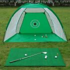 Golf Cage Foldable Training Practice Net Hitting Aid Driving Chipping System Out