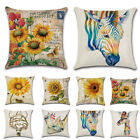 Cotton Linen Square Home Decorative Throw Pillow Case Sofa Waist Cushion Cover image