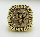 Pittsburgh Penguins LEMIEUX Hockey 1991 Stanley Cup Championship Ring 18k GP USA $39.95 USD on eBay