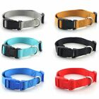 Dog Collar with Quick Snap Buckle Basic Polyester Nylon Leash & Harness New