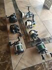 Assorted Fishing Reels Baitcaster and Spinning- 7 reels Total