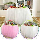Tulle Tutu Table Skirt For Wedding Party Birthday Baby Shower Desk Fashion Decor