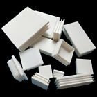 Внешний вид - White Plastic Rectangle Blanking End Caps Cap Tube Pipe Inserts Plug Bung Steel