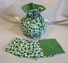 Small St. Patrick's Day Tea Cozy & Matching Coaster Sets - 2 to 4 cups