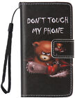 Magnetic Wallet Cartoon PU leather Gel Soft Flip Stand phone cover case Strap #2