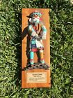 "KACHINA ""NUVAK 'CHINA""  Doll Wall Plaque Signed Allen 15 Inches By 5.5 Inched"