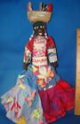 "Folk Art Black Cloth Rag Doll 16"" Tall JAMICA Vintage @2B"
