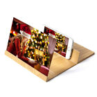 """12"""" 3D Stereoscopic Amplifying Wood Bracket Foldable Screen Enlarger for Phone"""