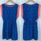 Charming Charlie Womens Size Small Printed Fit N Flare Dress Sleeveless Elastic