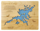 Wood Laser Cut Map of Squam Lake, N.H.