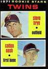 1971 Topps BB #s 301-400 MOSTLY STOCK PHOTOS A3385 - You Pick - 10+ FREE SHIPBaseball Cards - 213