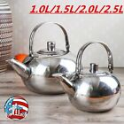 4 Size Stainless Steel Teapot Silver Coffee Strainer Kettle Removable Infuser US