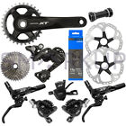 New 2019 Shimano Deore XT M8000 Ice Tech Disc Brake Groupset 46t 170/175mm 11s