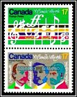 O CANADA 1980 CANADIAN ANTHEM COMPOSERS FACE 34 CENT MINT SE-TENANT STAMP SET