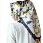 Women hijab scarf Fashion Imitation Silk Scarves large Square Muslim Scarf