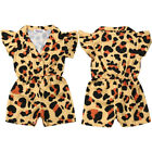 Summer Toddler Baby Girl Clothes Ruffle Leopard Romper Jumpsuit Outfits Sunsuit
