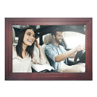 "iDeaPLAY 13.3"" Touch Screen Digital Photo Frame WiFi Wooden Picture Album 8GB"