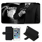 Personalised Mens iPhone Case JAMES BOND Cover Flip Wallet Phone Gift ST396 £10.95 GBP on eBay