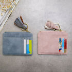 Faux Leather Tassel Pendant Mini Card Holder Coin Purse Keychain Wallet  high image