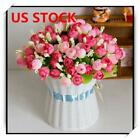 15-head Artificial Rose Bouquet Silk Fake Flowers Wedding Party Home Decoration