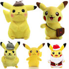 Pokemon Detective Pikachu Plush Toys Stuffed Doll Collection Kids Gift Lovely
